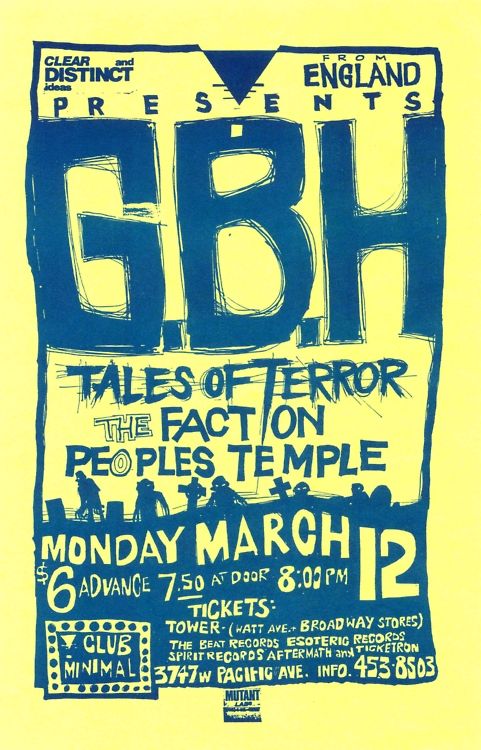 GBH-Tales Of Terror-The Faction-People's Temple @ Sacramento CA 3-12-88