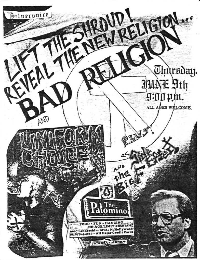 Bad Religion-Uniform Choice-Side Effect @ Hollywood CA 6-9-88