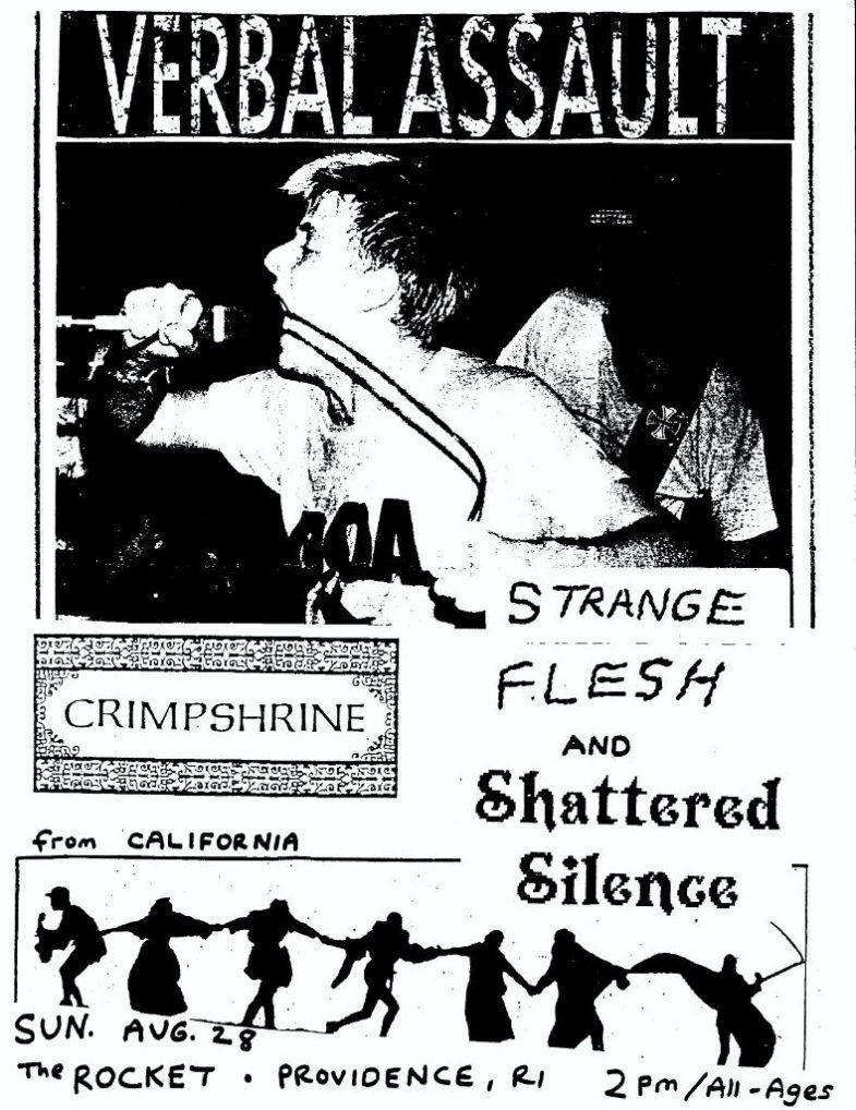 Verbal Assault-Crimpshrine-Strange Flesh-Shattered Silence @ Providence RI 8-28-88