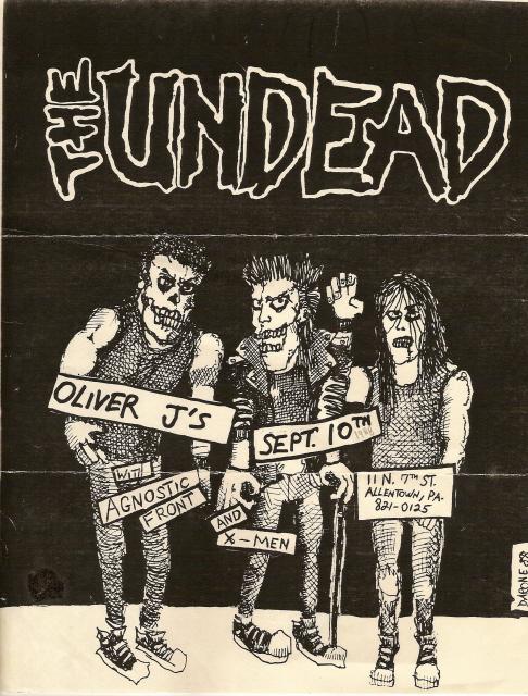The Undead-Agnostic Front-X Men @ Allentown PA 9-10-88