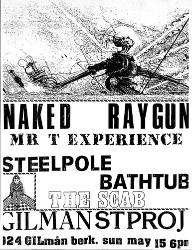 Naked Raygun-Mr. T Experience-Steelpole Bathtub-The Scab @ Berkeley CA 3-15-88