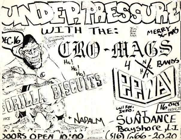 Cro Mags-Gorilla Biscuits-Leeway-Under Pressure @ Long Island NY 12-16-88