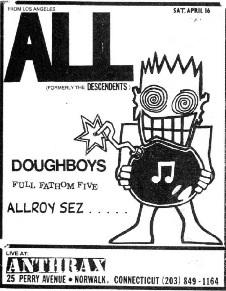 All-Doughboys-Full Fathom Five @ Norwalk CT 4-16-88