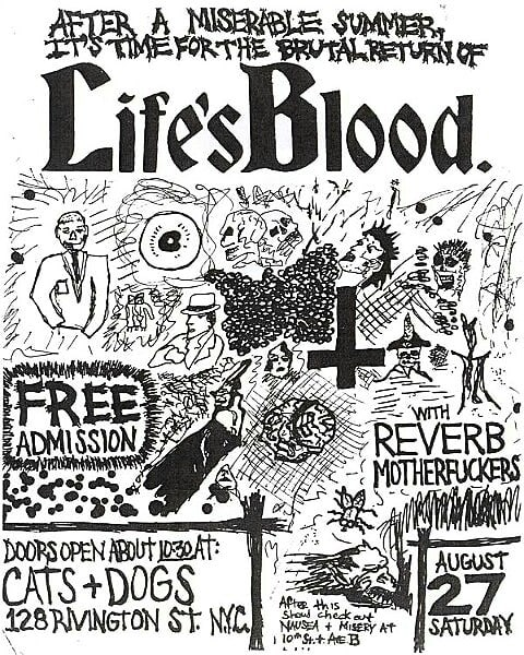 Life's Blood-Reverb Mother Fuckers @ New York City NY 8-27-88