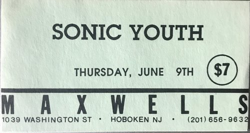 Sonic Youth @ Hoboken NJ 6-9-88