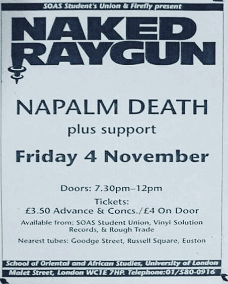 Naked Raygun-Napalm Death @ London England 11-4-88