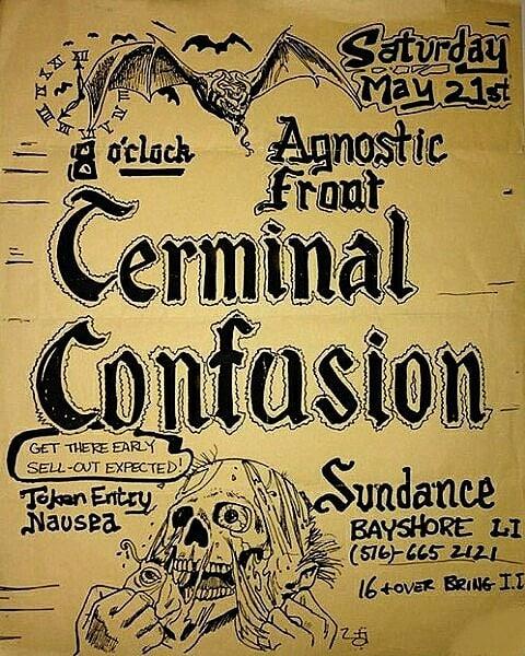 Agnostic Front-Terminal Confusion-Token Entry-Nausea @ Long Island NY 5-21-88