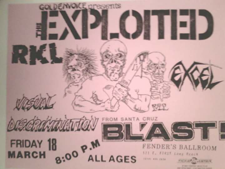 The Exploited-Rich Kids On LSD-Visual Discrimination-Excel-Bl'ast! @ Long Beach CA 3-18-88