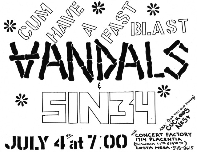 Vandals-Sin 34 @ Costa Mesa CA 7-4-UNKNOWN YEAR