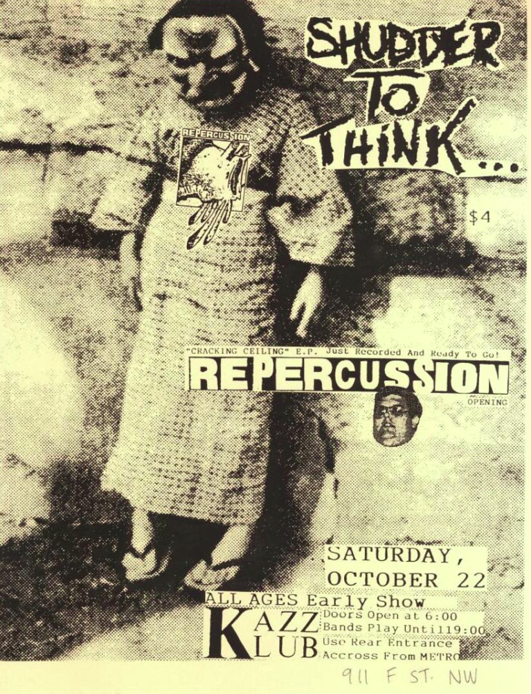 Shudder To Think-Repercussion @ Washington DC 10-22-88