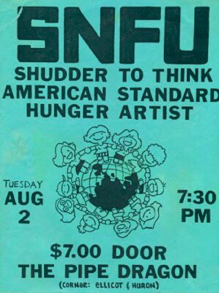SNFU-American Standard-Shudder To Think-Hunger Artist @ Buffalo NY 8-2-88