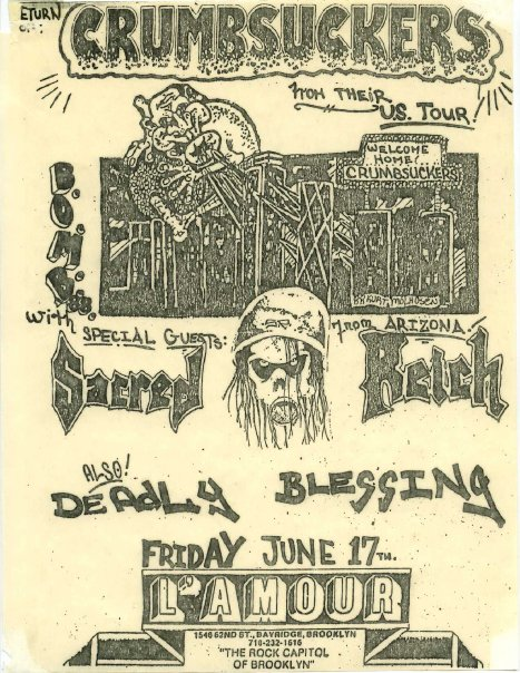 Crumbsuckers-Sacred Reich-Deadly Blessing @ Brooklyn NY 6-17-88