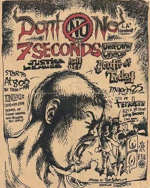 Youth Of Today-Uniform Choice-Half Off-Justice League-7 Seconds-Don't No @ Long Beach CA 3-25-88
