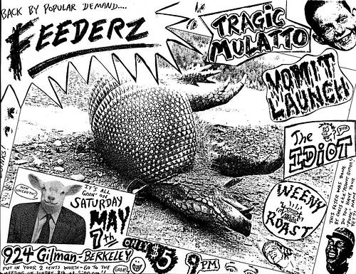 Feederz-Tragic Mulatto-Vomit Launch @ Berkeley CA 5-7-88