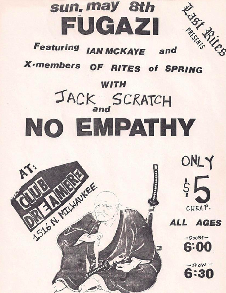 Fugazi-Jack Scratch-No Empathy @ Chicago IL 5-8-88