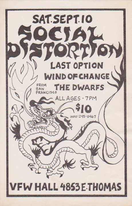 Social Distortion-Last Option-Wind Of Change-The Dwarves @ Phoenix AZ 9-10-88
