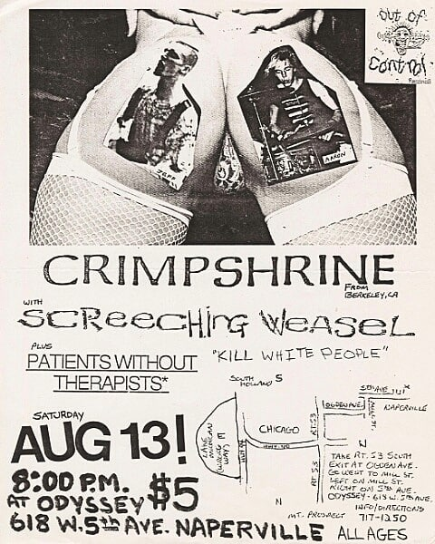 Crimpshrine-Screeching Weasal @ Naperville IL 8-13-88