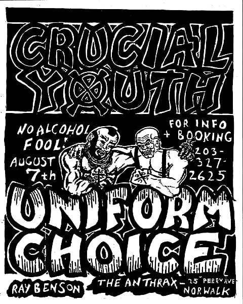 Uniform Choice-Crucial Youth @ Norwalk CT 8-7-88