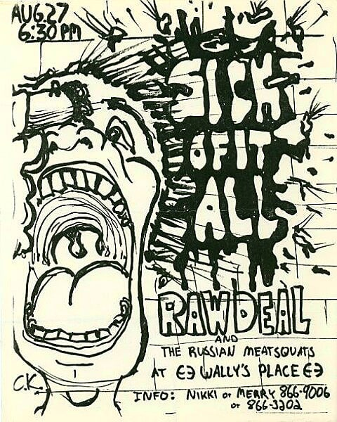 Sick Of It All-Raw Deal-Russian Meat Squats @ Bethlehem PA 8-27-88