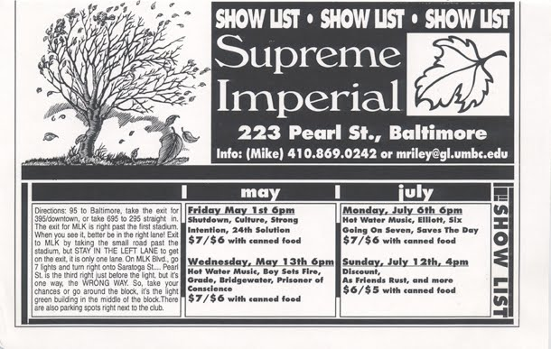 Baltimore Shows Spring 1998