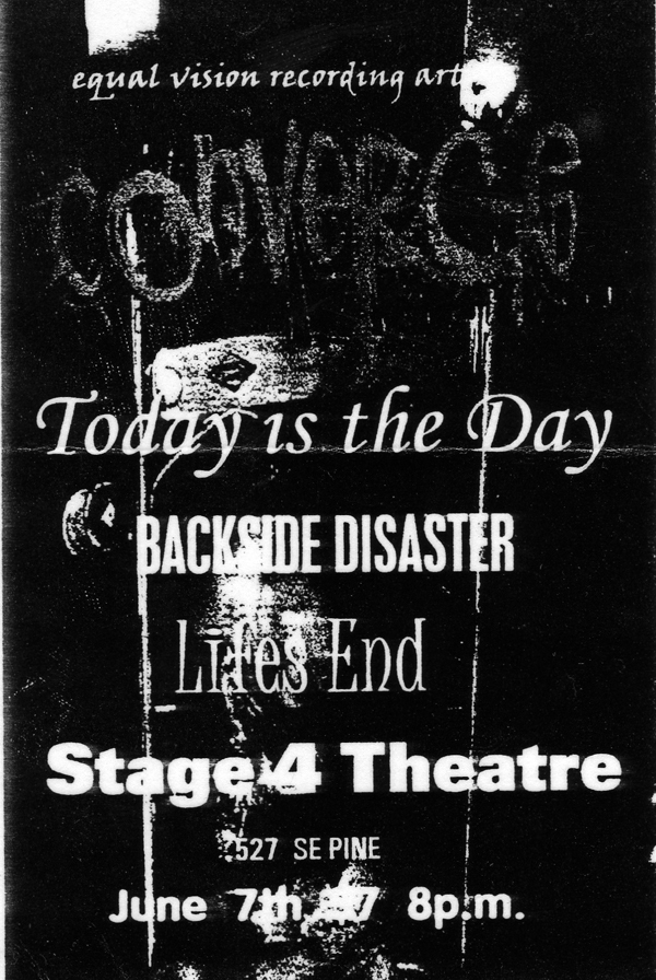 Converge-Today Is The Day-Backside Disaster-Life's End @ Portland OR 6-7-98