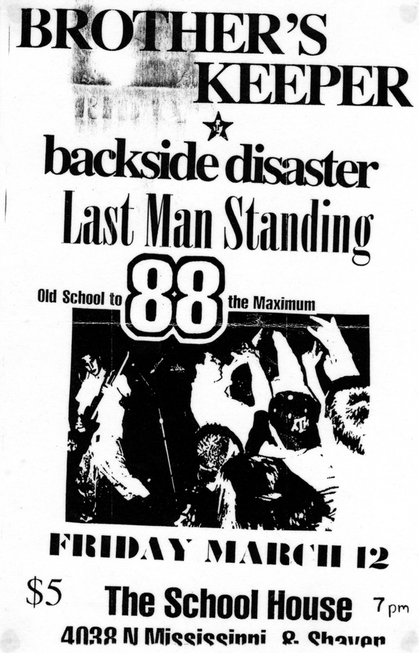 Brother's Keeper-Backside Disaster-Last Man Standing @ Portland OR 3-12-98