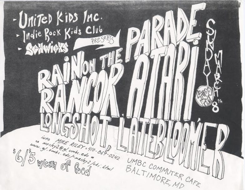 Rain On The Parade-Rancor-Atari-Long Shot-Late Bloomer @ Baltimore MD 3-8-98