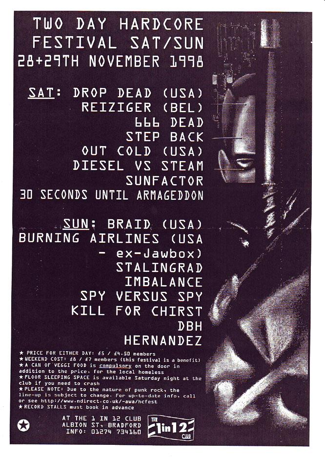 Liverpool Hardcore Festival November 1998