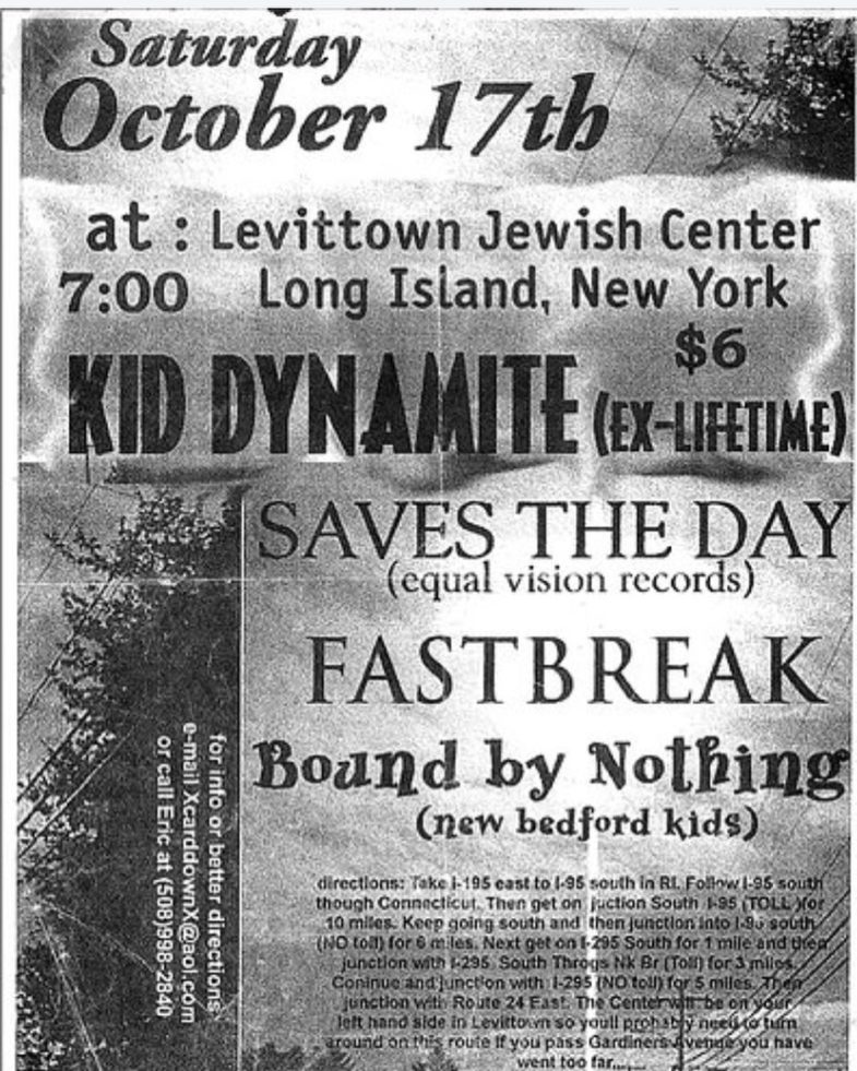 Kid Dynamite-Saves The Day-Fastbreak-Bound By Nothing @ Long Island NY 10-17-98