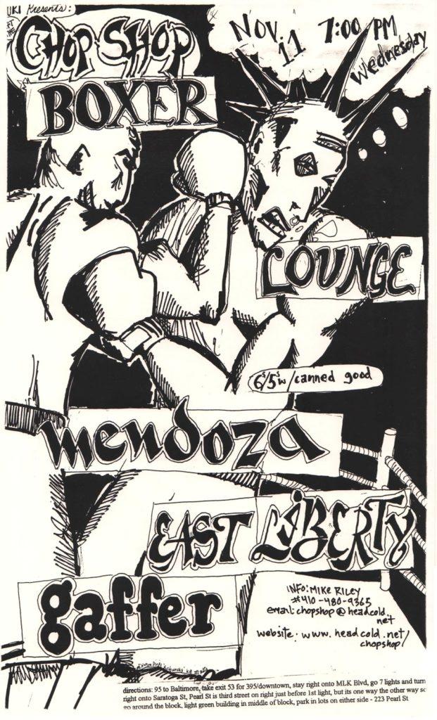 Boxer-Lounge-Mendoza-East Liberty-Gaffer @ Baltimore MD 11-11-98