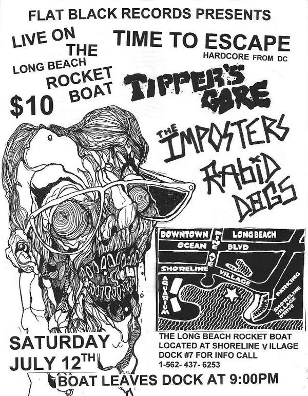 Time To Escape-Tipper's Gore-The Imposters-Rabid Dogs @ Long Beach CA 7-12-08