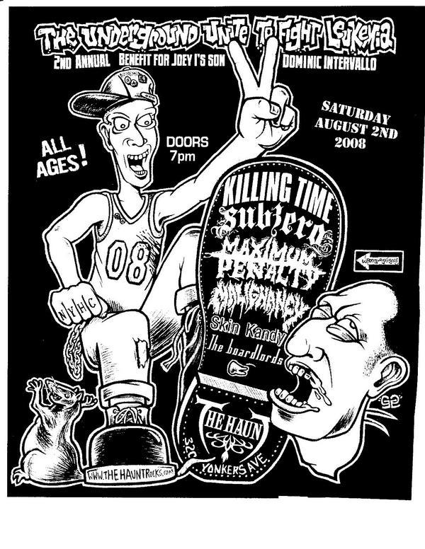 Killing Time-Sub Zero-Maximum Penalty-Malignancy-Skin Kandy @ New York City NY 8-2-08