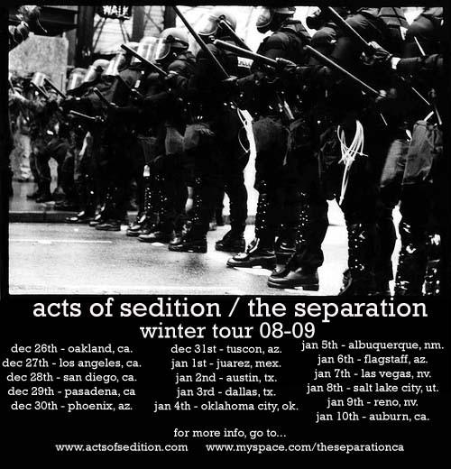 Acts Of Sedition-The Separation Winter Tour 2008