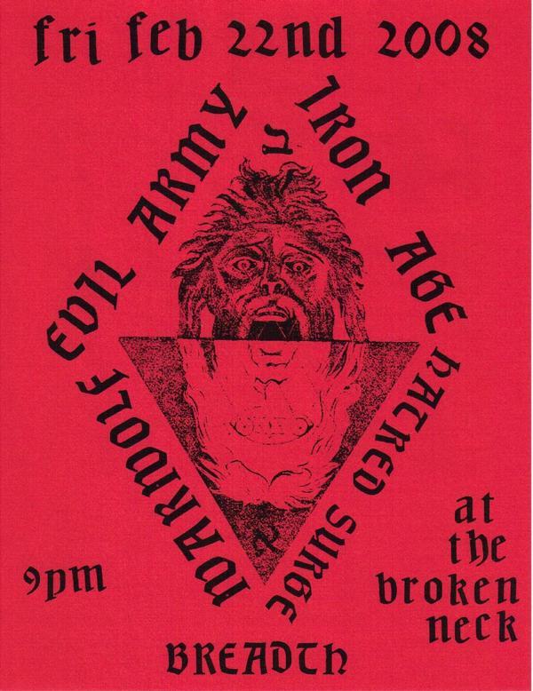 Iron Age-Evil Army-Hatred Surge @ Austin TX 2-22-08