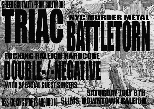 Triac-Battletorn-Double Negative @ Raleigh NC 7-8-08