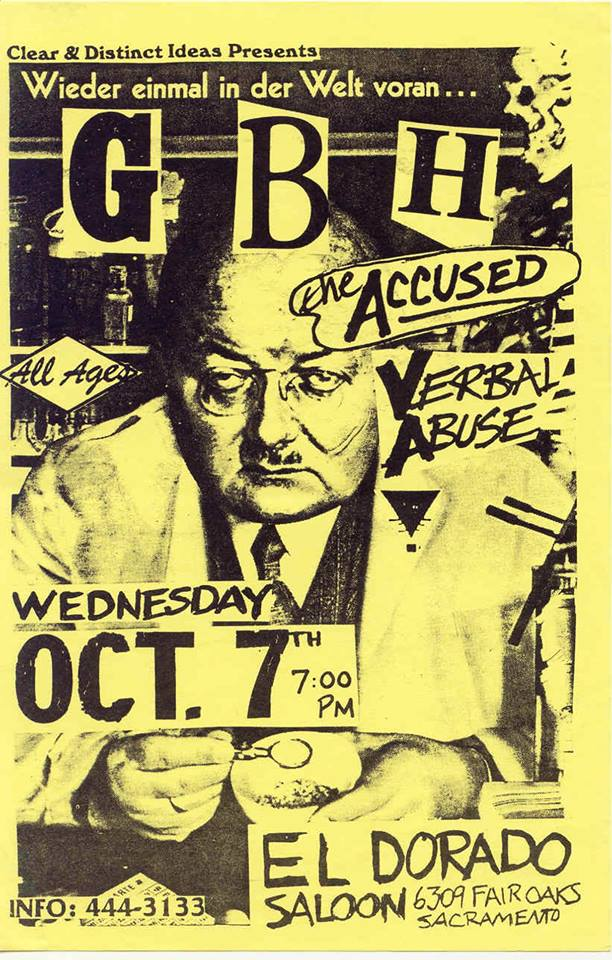 GBH-The Accused-Verbal Abuse @ Sacramento CA 10-7-87