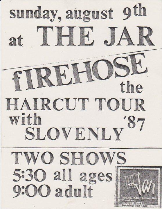 fIREHOSE-Slovenly @ Phoenix AZ 8-9-87