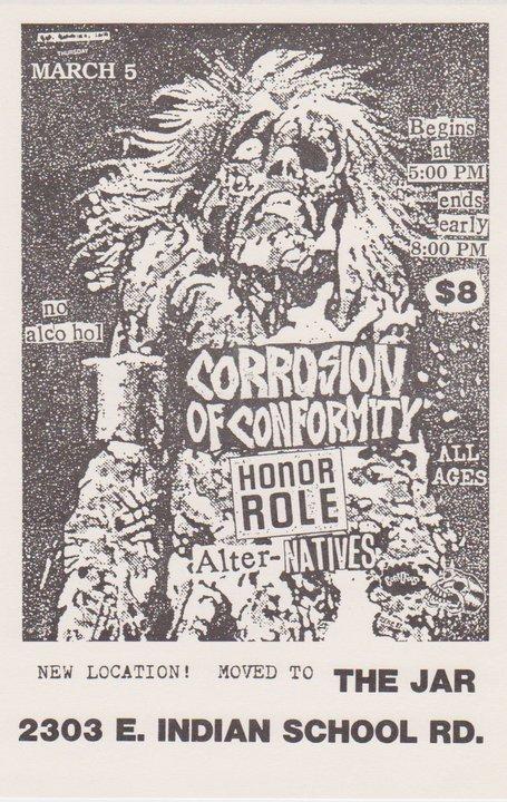 Corrosion Of Conformity-Honor Role-Alternatives @ Phoenix AZ 3-5-87