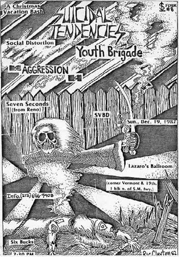 Suicidal Tendencies-Social Distortion-Youth Brigade-Aggression-7 Seconds-SVBD @ Los Angeles CA 12-19-82