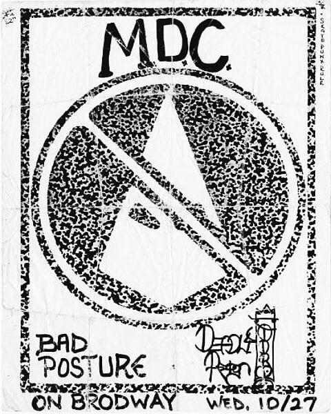 MDC-Bad Posture @ San Francisco CA 10-27-88