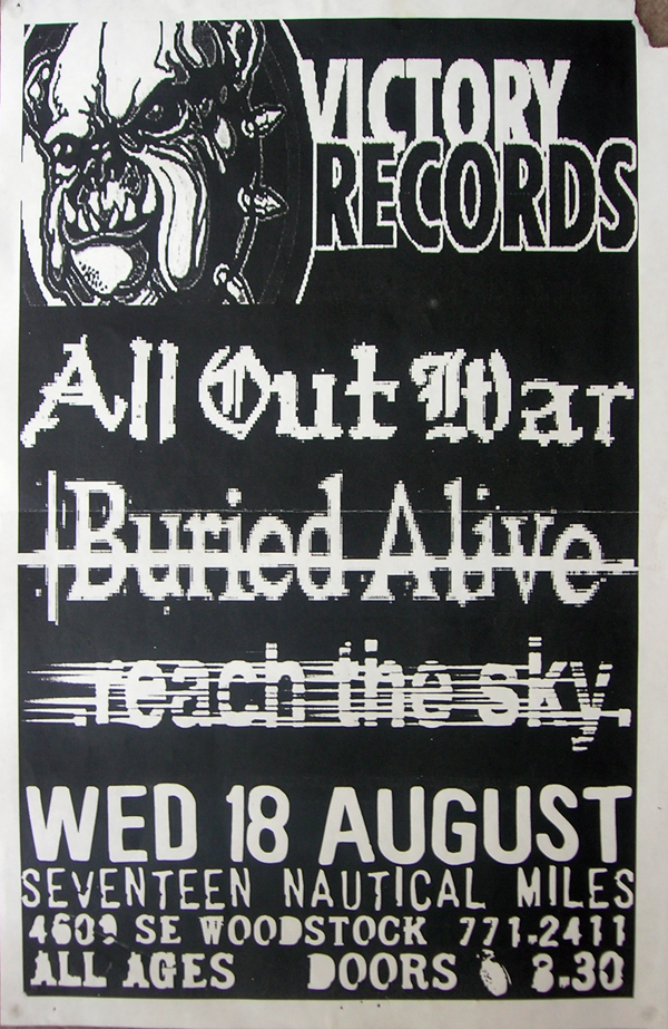 All Out War-Buried Alive-Reach The Sky @ Woodstock NY 8-18-98