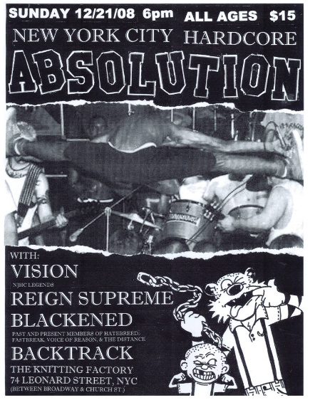Absolution-Vision-Reign Supreme-Blackened-Backtrack @ New York City NY 12-21-08