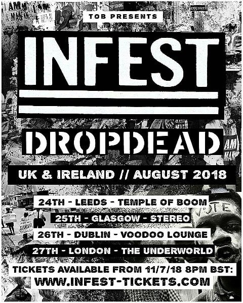 Infest-DropDead Tour 2018