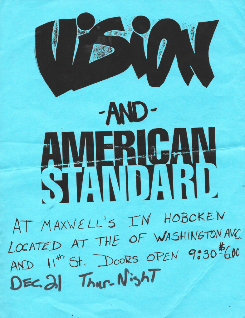 Vision-American Standard @ Hoboken NJ 12-21-89