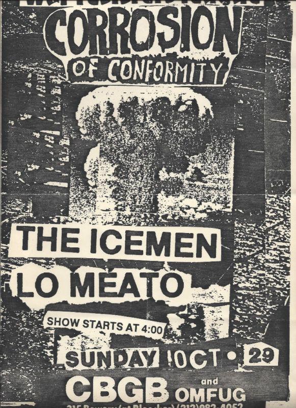 Corrosion Of Conformity-The Icemen-Lo Meato @ New York City NY 10-29-89