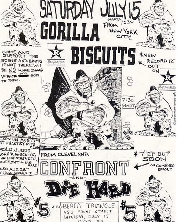 Gorilla Biscuits-Confront-Die Hard @ Cleveland OH 7-15-89