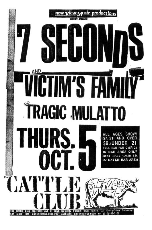 7 Seconds-Victim's Family-Tragic Mulatto @ Sacramento CA 10-5-89