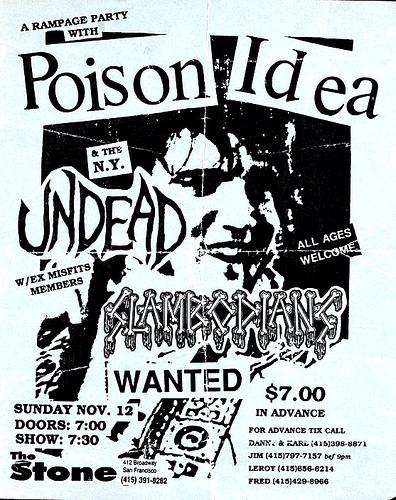 Poison Idea-The Undead-Slambodians @ San Francisco CA 11-12-89