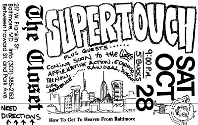 Supertouch @ Baltimore MD 10-28-89