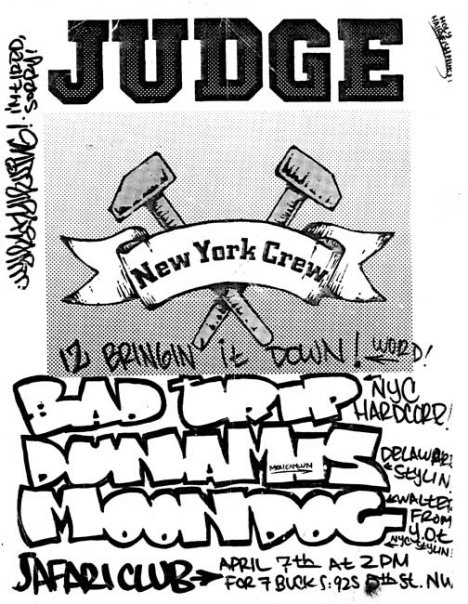 Judge-Bad Trip-Moondog @ Washington DC 4-7-89